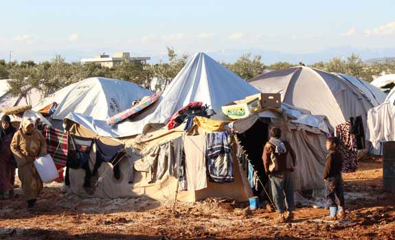 Refugee camp in Aleppo. Photo by IHH Humanitarian Relief Foundation