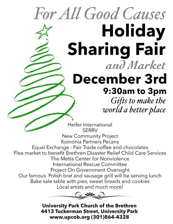 For All Great Causes Holiday Sharing Fair 2016